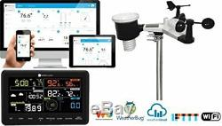 10-in-1 Wireless Weather Station Sensor PC Phone Connect Remote Monitor WIFI