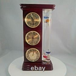 12x6 Galileo Weather Station Barometer Hygrometer Clock Thermometer Dope Design