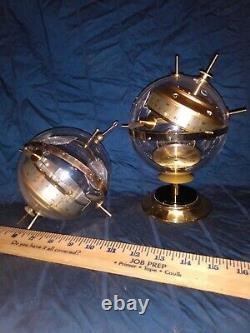 2 Vintage SPUTNIK Weather Station West Germany Thermometer Barometer Hygrometer