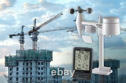 5-in-1 Wireless Sensor Professional Outdoor Home Weather Station Kit Wind Vane