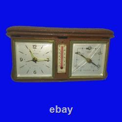 8-Day Travel Clock & Thermometer & Barometer, Weather Station, 1930