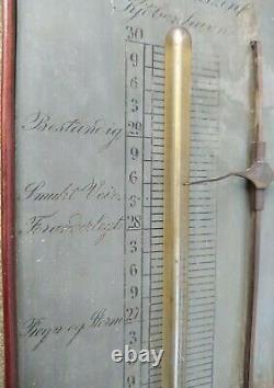 A Mahogany Stick Barometer Weather Station Danish Edvard Bentzen Antique