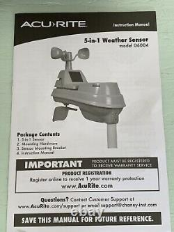 AcuRite 06004RM 5-in-1 Weather Sensor with Rain Gauge with Weather Station
