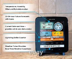 AcuRite Iris 5-in-1 01022M Pro Weather Station Detector 01022, Lightning