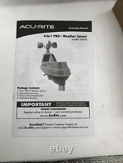 AcuRite Iris 5-in-1 PRO+ Weather Station with Direct to Wi-Fi Display 01544MCB