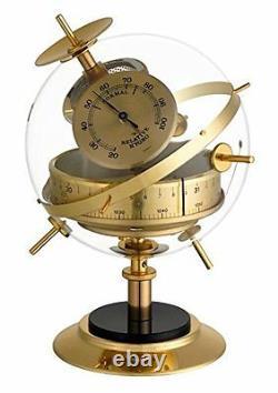 Analogue Weather Station of White Vintage Brass TFA 2020475B Sputnik Retro