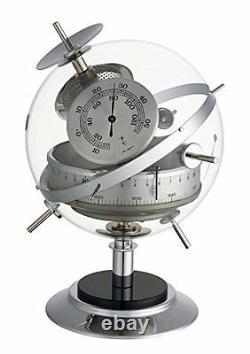 Analogue Weather Station of White Vintage Brass TFA 2020475B Sputnik Retro White