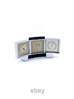 Angelus Table clock with 8 day movement with alarm and weatherstation barometer