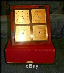 Angelus Weather Station Desk Clock Hydrometer Thermometer Barometer