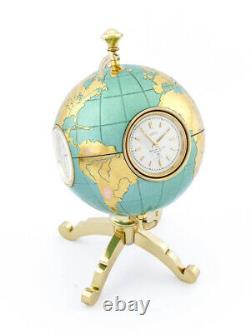 Angelus swiss globe 8-day clock weather station barometer etc 60's