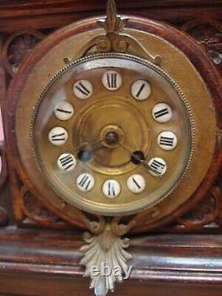 Antique Carved Oak Cased Weather Station Clock & Barometer Project