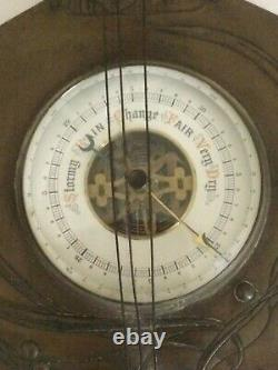 Antique French Barometer Weather Station Mandolin shaped
