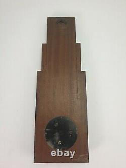 Antique German Art Deco Wooden Weather Station Barometer J G Gischard