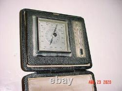 Antique Lufft Barometer Hygrometer Thermometer Weather Station In Case Germany