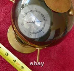 Atomic MID Century Sputnik Thermometer Barometer Weather Station Huger Germany