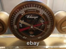 Awesome 1950s Personal Weather Station. Brass and Acrylic