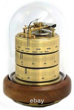 Barigo Weather Station 30263 Barometer Thermo Hygro Brass