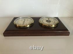 Bey-Berk Kersey Weather Station Brass Barometer & Thermometer/Hygrometer France