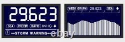 Brand New Dbx2 Desktop High Precision Digital Barograph Barometer Black