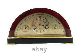 Bulova Weather Station with Clock, Thermometer & Hygrometer- Mahogany 10x 5