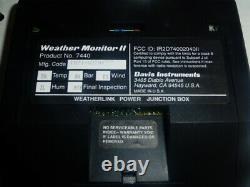 Davis Instruments Weather Monitor II 7440 Professional Home Weather Station New