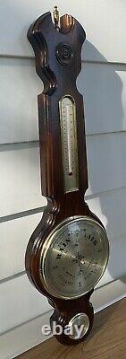 Ethan Allen 34Antiqued Pine Weather Station Thermometer, Barometer & Hygrometer