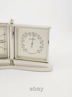 Fine rare Imhof table clock 40's weather station barometer alarm