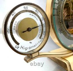 Hans Lufft Machine Age Luxury Table Barometer Weather Station Mid-Century Modern