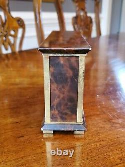 Hermes Compendium Clock 1960s Enamel 4 Function Time Date Temperature Barometer