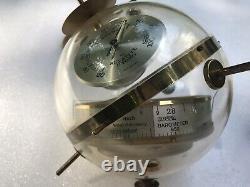 Huger Sputnik Globe Barometer, Thermometer, Hygrometer Weather Station W Germany