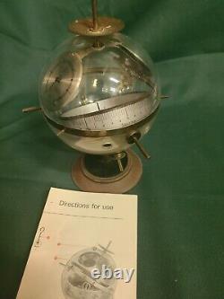Huger Sputnik W Germany Globe Barometer, Thermometer, Hygrometer Weather Station
