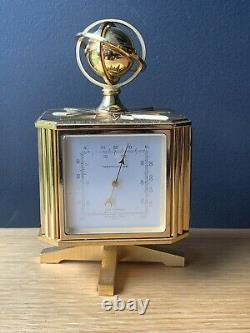 Imhof Bucherer Midcentury Starburst Weather Station Clock Barometer