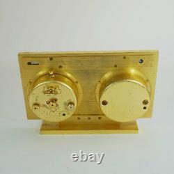 Jaeger 1960ties Clock Weather Station, Barometer, Thermometer, Wecker Recital