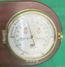 Joseph Sewill Liverpool Marine Ships Clock And Barometer Weatherstation