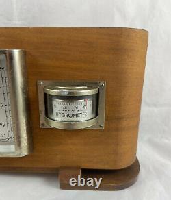 Lufft German Art Deco Barometer Thermometer Hygrometer Desktop Weatherstation