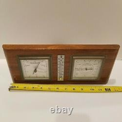 Lufft German Art Deco Barometer Thermometer Wall Weather Station Mint 709 Wood