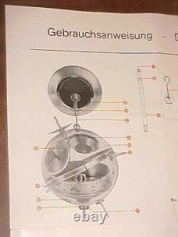 MID CENTURY ATOMIC Sputnik weather station Thermometer, Barometer West Germany