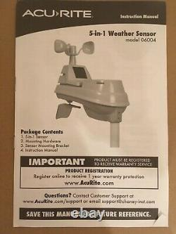 NEW AcuRite 5-in-1 Weather Station with HD Display