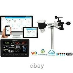 New! Ambient Weather Smart Wi-Fi Weather Station With Remote Monitoring & Alerts
