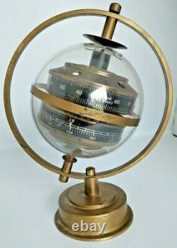 Original Sputnik Retro Analogue Weather Station True Vintage Brass