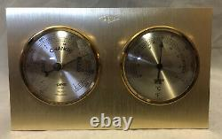 Rare Dow Chemical Hoffritz France Desktop Weather Station Thermometer Barometer