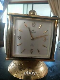 Relide Swiss 15 Jewel Station Clock & weather station, thermometer, barometer