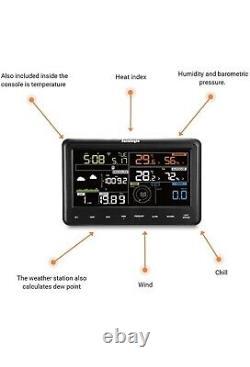 Sainlogic professional WLAN weather station, 7 in 1 WiFi weather station