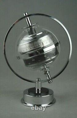 Sputnik WEATHER STATION Barometer Thermometer Art Deco Space Age Germany 70s 60s