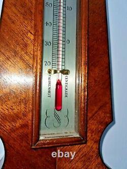 Stunning Comitti Of London Tall Weather Station Banjo Barometer / Working Order
