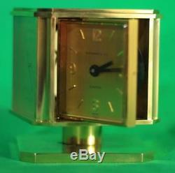 Swiss Tiffany Weather Station Cube Table Clock Barometer Hydrometer Thermometer