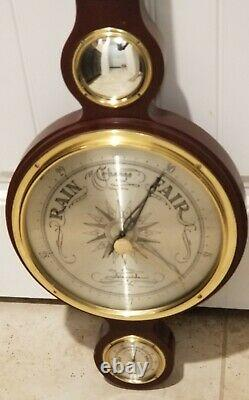 Vintage Airguide Compensated Barometer Weather Station 37 Tall