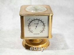 Vintage Angelus Desk Clock Weather Station 8 Days Swiss, Withcompass, Barometer