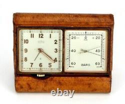 Vintage Angelus Desk Travel Clock Weather Station, Barometer