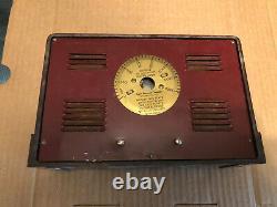 Vintage Art Deco Taylor Weather Station Barometer Brass Thermometer Gauge Tool